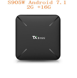 new hd Promo Codes - New TX3 Mini Android 7.1 TV BOX 2GB16GB Amlogic S905W Quad Core 2.4GHz WiFi Google Play Store Netflix Media Player Smart TV Box