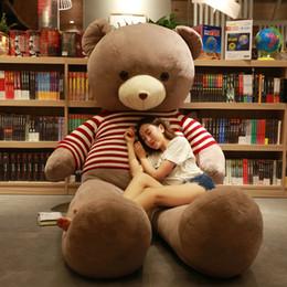 Schöner großer teddybär online-Teddybär Panda Bear Doll umarmen Mädchen Bär Bär Plüschtier schöne schlafende Mädchen, um Freundin zu senden