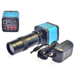 Выход видеокамеры онлайн-Freeshipping 14MP HDMI USB HD промышленность видео микроскоп камеры 10X цифровой зум 720p 60Hz видео выход + объектив камеры