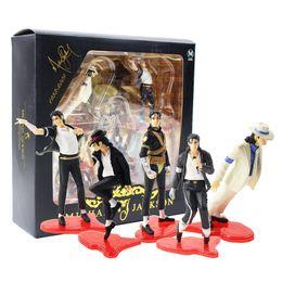 Michael jackson pvc on-line-5pcs / lot 9-11cm MJ Michael Jackson Rei do Pop Pose estatueta Ação PVC Figure Toy Presente Coleção Modelo For Kids