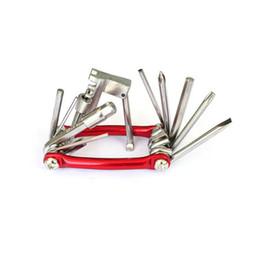 2019 bicicleta de garfo cônico Bicicleta ferramentas multi 11in1 bicicleta Reparação Set bicicleta Repair Tool Kit chave de fenda chave Cadeia de aço carbono de bicicletas Ferramenta Multifuncional