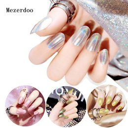 6eed23d176abe 24Pc Shine False Nails Tips Fake Nail Full Artificial Nails Press on Tips  Art Design Mirror Stiletto New Nail Gradient Color Tip