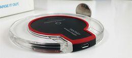 Goophon original online-Auf Verkauf Original Wireless Lade Pad Schnurloses Handy-Ladegerät für Goophone S9 4g Lte Telefon Iphone 7 Plus S7 Rand Huawei Handys