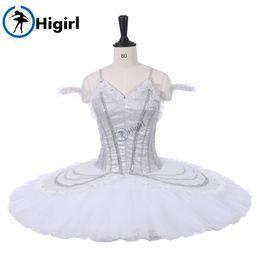 2019 traje de cascanueces Mujeres Ballet Profesional Tutu Blanco Plato de Panqueque Tutu Falda Cascanueces Ballet Etapa Vestidos Vestido BT9218 traje de cascanueces baratos