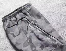 Wholesale Air Fleece - TECH FLEECE CAMO pants, men's foot trousers, air layer cotton camouflage sports pants