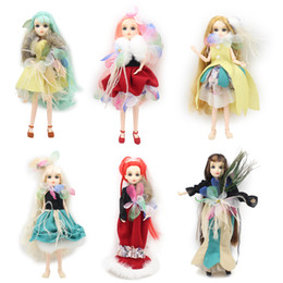 Wholesale Plastic Doll Joints - Dream Fairy BLYTH bjd neo fashoin girl doll Xiaojing joint body dress box shoes toy gift 27cm 1 6 doll