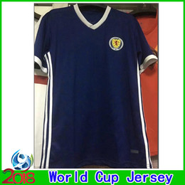 Wholesale football nation - 2018 Scotland World Cup Soccer Jersey Top Thai Quality 18 19 Scotland Home Blue Nation Team Soccer Shirts 2019 Football Shirt Free Shipping