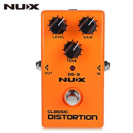 Wholesale Nux Pedals - NUX Classic Tube Distortion guitar Pedal Guitar Effect Pedal Crunch distortion Brown Sound True Bypass guitar effects