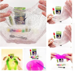 Wholesale tools toys for kids - Make Your Own slime DIY Play For Kids Science Game plasticine toys Kids Play DIY Blowing Bubbles Crystal Mud Educational Tool KKA4492