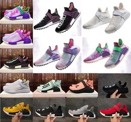 Wholesale Cotton Ink - Wholesale 2018 Human Race Pharrell Williams Hu trail NERD Men Womens Running Shoes white noble ink core Black Red sports Shoes sneaker 36-47