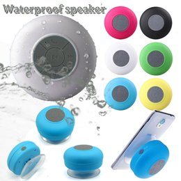 Wholesale Stands For Speakers - Fashion design BTS 06 waterproof wireless stereo supper bass speaker wall stand shower MP3 music bluetooth player for bathroom kitchen home