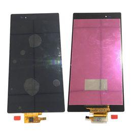 Xperia negra z on-line-Novo display lcd touch screen digitador para sony xperia z ultra xl39h c6833 c6806 branco preto com vidro temperado dhl logística
