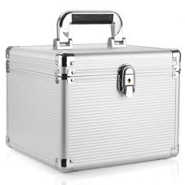 8gb festplatten online-Wholesale-Brand New Aluminium 10 3,5-Zoll-Festplattenschutz Aufbewahrungsbox mit Verriegelung - Silber
