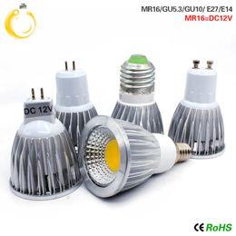 Canada Haute luminosité 9W 12W 15W lumières de Noël E27 E14 GU10 GU5.3 220V MR16 12V Cob led ampoule Chaud Blanc Froid Blanc Lampadaire led cheap led 12v mr16 15w Offre