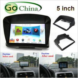 "sunshades for cars Australia - iaotuGo 5 inch GPS universal sunshade for car GPS vehicle navigator accessories For 5"" Navigator"