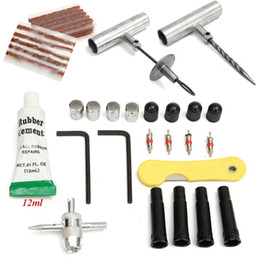 Wholesale Tubeless Repair Kit - Set of 35pc Tubeless Tyre Repair Kit Hand Tool Vehicle Car Wheel Tires Puncture