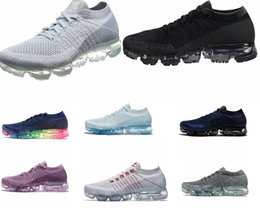 Wholesale gray men shoes - 2018 Vapormax Running Shoes For Men Sneakers Women Fashion Athletic Sport Shoe white black gray red Walking Outdoor Sneakers SIZE US 5.5-12