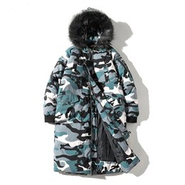 f048bace73f Winter Long Hooded fur collar Jacket Coats Men New Casual Male Camouflage  Parka Jacket Mens Plus size 5XL Hip hop Coats