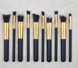 Wholesale horn pieces - High Quality Cheap Price Cosmetic Makeup Brush 10 pieces brush make up brushes tools kit Eyelash foundation Eyeshadow Eyeliner Lip Brush