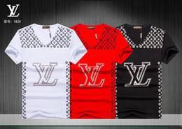 camisas da marca v neck Desconto Tops dos homens Tees 2018 Verão Novo Algodão Com Decote Em V de Manga Curta T-shirt Da Marca Dos Homens de Impressão de Tendências de Moda Casual Fitness camiseta # 0588