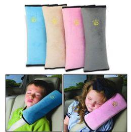 Wholesale Neck Pillow Kid - Baby Kid Car Safety Seat Belt Harness Shoulder Cushion Pad Pillow Car Seat Belt Cushion for Kids KKA4370
