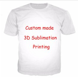 Conception t diy shirts en Ligne-Vente en gros - Accepter Chers clients Design Anime / Photo / Etoile / Motif Chanteur / T-shirt DIY Femmes Hommes 3d Impression Sublimation T-shirt Livraison gratuite