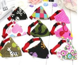 Wholesale Spring Color Scarves - 2018 New Adjustable Dog Cat Turban Scarf Collar New Mixed Color Dog Collar Brand New Style