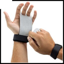 Gewichtheben handschuhe online-Gymnastik Guard Palm Protektoren Handschuh Fitness Zubehör Kunstleder Gewichtheben Handschuhe Für Mann Frauen Hohe Qualität 16 hs Ww