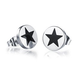 Wholesale Stud Earrings For Cheap - 10mm Men's Barbell Studs Punk Stainless Steel Ear Studs Earrings For Women Men Jewelry Cheap Price