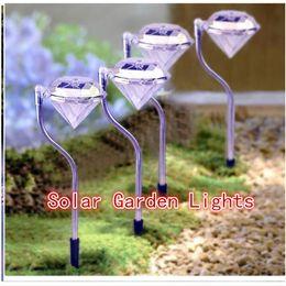 luci da giardino esterne del percorso solare Sconti Luci da giardino a LED solari Luci da palcoscenico a luci esterne a LED Illuminazione di paesaggi 7 Luci a cangianti per strade in acciaio inox a cambiamento di colore 0145