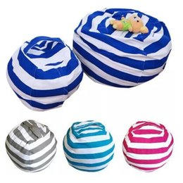 Wholesale Kids Room Decorative - 4 Colors Storage Bean Bags Kids Plush Toys Beanbag Chair Bedroom Stuffed Animal Room Mats Portable Clothes Storage Bag CCA8500 20pcs