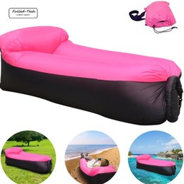 Wholesale Inflatable Air Sofa - Inflatable Lounger Chair with portable carry bag for various uses lazy bag air sleeping outdoor lazy sofa air couch hammock