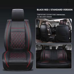 2019 fundas de asiento de coche bordadas Funda de asiento de coche Juego universal para BMW E46 F31 E60 E90 E93 X3 1 Serie Cubierta de asiento de coche Funda de asiento de cuero impermeable PU Cubo Asientos Auto