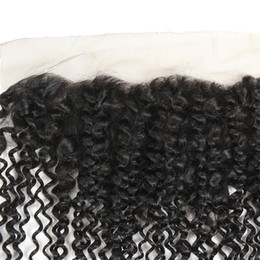 Wholesale Kinky Permed Lace Closure - Peruvian Lace Frontal Closure Kinky Curly 13x4 Best Custom Made Lace Frontals For Sale Cheap Brazilian mongol Malaysian Frontal Lace Closure