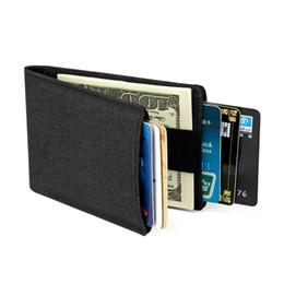 2019 pequeñas bolsas de hombre delgado 2018 Fashion Nylon RFID Business Small Card Holder Crédito de viaje Monedero mágico para hombres Monedero Mini estuche Bolsa de licencia de conducir Thin pequeñas bolsas de hombre delgado baratos