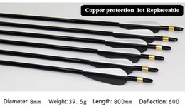 Wholesale Recurve Hunting Bow - 2018 New High qualit Arrow Replaceable Copper Protection Carbon Arrow for Compound & Recurve Bow Hunting and Archery Shooting Target