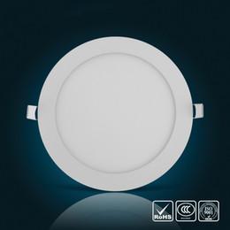 Световая решетка онлайн-Dimmable ультратонкий 3W 4W 6W 9W 12W 15W 18W светодиодный потолочный встраиваемый светильник сетки / тонкий круглый свет панели AC 110 В 220 В