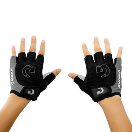 Wholesale Women Gel Cycling Gloves - 2017 1Pcs Men Women Half Finger Anti Slip Gel Pad Cycling Running Sports Motorcycle MTB Road Bike Gloves Running Bike Gloves j2