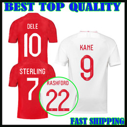 Wholesale Football Jersey Fonts - 2018 england soccer Jersey World Cup ROONEY home KANE STURRIDGE STERLING HENDERSON 18 19 away WALKER RASHFORD DIER football shirts new font