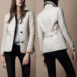 Commercio all'ingrosso - Giacca da donna semplice autunno imbottito imbottito giacca cappotto casual Giacca moda plaid trapuntato trapuntato da