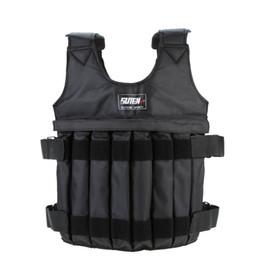 Pesos de colete on-line-10 kg 50 kg Carregar Weighted Vest Para Boxing Training Equipment Exercício Ajustável Black Jacket Swat Sanda Sparring Protect