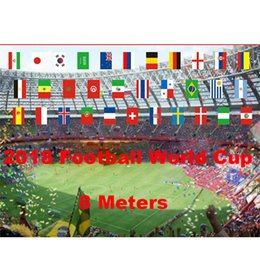 Wholesale Bar Meter - 2018 Russian World Cup 32 Team 8 10 Meters String Flag Country World Banner Bunting Bar Home Party Decoration Free DHL G205S