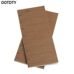 Wholesale Weekly Planners - OOTDTY OOTDTY Notes Kraft Cover Weekly Planner Diary Journal Memo Notebook Note Pad School Office Sticky Notes 1pc