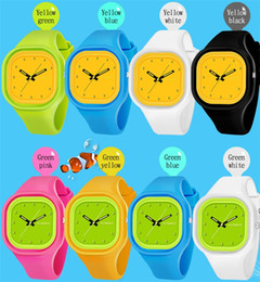 relojes mujer amarilla impermeable Rebajas Synoke marca estudiante reloj mujeres único impermeable colorido banda de silicona amarillo dial niños moda estilo deportivo reloj de pulsera 66895