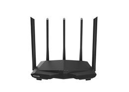 Усиление антенны wi-fi онлайн-Tenda AC7 1200 Мбит / с Беспроводной Wi-Fi маршрутизатор с 5 * 6 дБи, антенна с высоким коэффициентом усиления, домашний охват, двухдиапазонный Wi-Fi, 28-нм чип-приложение, управление