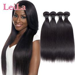 Wholesale Remy Raw Hair - Brazilian Peruvian Raw Indian Malaysian Straight Hair Remy Human Hair Bundles 10A Grade Vrigin Hair Straight Extensions 4pieces lot