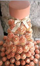 Canada Gros-6 rangée cristal acrylique coeur coeur cupcake est pour la décoration d'affichage de gâteau de fête d'anniversaire de mariage supplier acrylic cake stands wholesale Offre