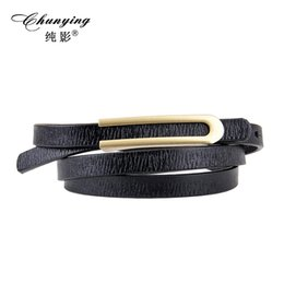 Wholesale Leather Cowhide Strap Wholesale - 2017 Hot new Fashion Women's genuine Leather cowhide fashion Thin Belt Waistband Female tie Straps Ladies cowskin Cummerbund