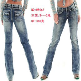 Wholesale Office Fit - Women Straight Long Jeans Pants Washed Slim Fit Fashion Trousers Female Office Elegant Pants
