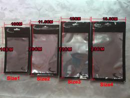 sacs en plastique d'emballage de détail noir Promotion 4Sizes Retail Package Zipper Sac Noir En Plastique Poche Pour Samsung Note 8 S9 S8 Plus Iphone X 10 8 7 Plus 6 6 S 4.7 En Cuir Cas de Téléphone Dur